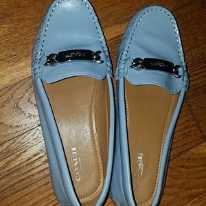 COACH blue patent leather loafers sz. 6.5